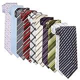 [アトリエサンロクゴ] シルク100% ネクタイ 10本 ネクタイセット ネクタイの 10本セット 色・柄おまかせset マルチカラー 日本 FREE サイズ (FREE サイズ)