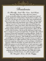 The Desiderata Poem by Max Ehrmann on 8.5X 11アートカード用紙Distinguishedデザイン