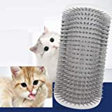 【Upgraded Version】 Cat Dog Self Groomer Brush (Longer) 2 Pack Dog Cat Wall Corner Grooming Combs, Scratchers and Brushes for
