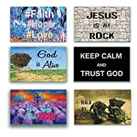 NewEights Christian Inspirational Bible Verses Poster - A3 Size -How Great is Our God Theme - War Room Home Decor (12 Pack) - Thanksgiving Christmas Stocking Stuffers [並行輸入品]