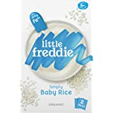 Little Freddie Organic Simply Baby Rice (2 Pack), 160 g,12.6 x 5.7 x 20 cm,blue