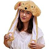 Animal Hat Ear Moving Jumping Hat Pop Up Ears Plush Hat Cap Headband for Women Girls
