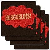 夢ゴブリン/プチ魔獣の逆襲のING 赤ロープロファイルコルクコースターセット