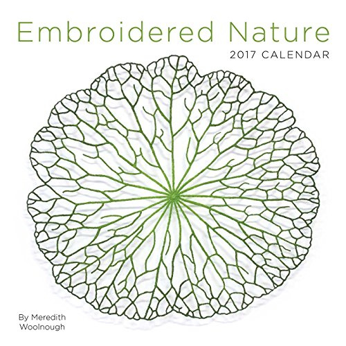 Embroidered Nature 2017 Wall Calendar (Square Wall)