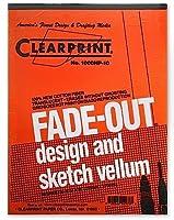 Clearprint fade-out設計とスケッチVellum–グリッド( 10x 10)–22x 34インチ(パックof 10シート) 1個SKU # 1840934MA