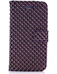 iPhone 6s Plus/6 Plus ケース 手帳型 最高級PU レザー カード収納 マグネット スタンドTrysunny 機能 付き 耐衝撃 耐汚れ 人気 おしゃれ, パープル