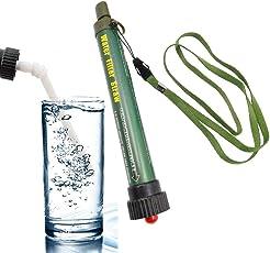 携帯 浄水器 ペットボトル取り付け可能 の浄水ストローボトル 2000L濾過 直飲み式 小型 七重濾過 水フィルター ストロー付き アウトドア活動 旅行や防災に 衛生で健康の水はスムーズに飲めます!