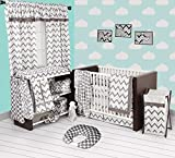 Best Bacati布団セット - Bacati Grey Ikat Chevron Muslin 10 Piece Crib Review