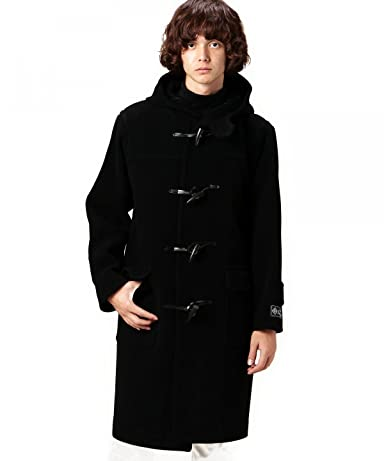 Cut Pile Wool Duffle Coat 1225-139-7160: Black