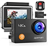 """APEMAN Action Camera 4K WiFi 20MP Waterproof Underwater Camera Ultra Full HD Sport Cam 30M Diving with 2"""" LCD 170 Degree Wide"""