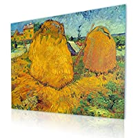 "Alonlineアート–Haystacks In Provence Vincent van Goghキャンバスの印刷(100%コットン、フレームなしunmounted) 16""x12"" - 41x30cm VM-VNG103-CNC0F00-1P1A-16-12"