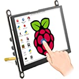ELECROW 5 Inch Raspberry Pi Monitor Touchscreen Capacitive IPS Display 800x480 USB Powered HDMI Monitor with Built-in Speaker