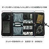 ProCase 旅行用品収納、電子付属品オーガナイザーバッグ、ケーブル管理トラベルキャリーケース、医療器具や化粧品バッグ(ブラック)