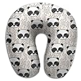 かわいいパンダ U型ネックピロー U型まくら 首枕 携帯枕 トラベル枕 携帯枕 軽量 旅行用品 飛行機 車 低反発 睡眠