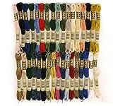 DMC 素朴で優しいウール糸の刺繍図案 WOOL STITCH 使用糸 25番刺繍糸 34色セット