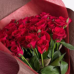 全5色から選べるバラの花束100本 バラギフト専門店マミーローズの豪華なバラの花束(生花) (赤) バレンタイン