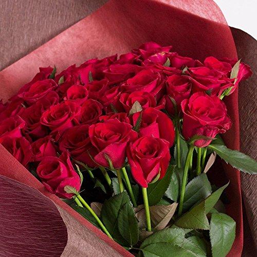 バラギフト専門店のマミーローズ 選べるバラ本数セレクト 還暦祝い 誕生日 プロポーズ 贈り物の豪華なバラの花束(生花) 赤 100本