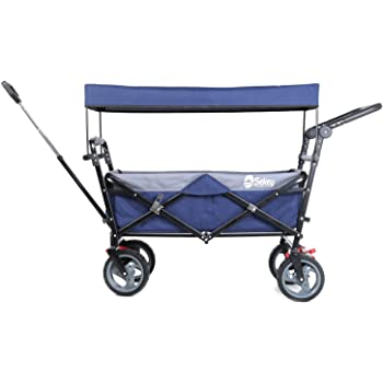 Sekey キャリーカート ワゴン 折り畳み式 耐荷重100㎏ 幌付き アウトドア 室内 多用途 組み立て不要 1年保証 2色合わせ