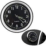 JEDEW Car Clock, Mini Quartz Analog Car Dashboard Time Air Vent Stick-On Clock Watch for Car Decoration, Universal and Lumino