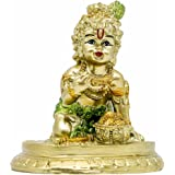 Hindu Baby Krishna Statue - Indian Small Krishna God Figurines for Home Puja Mandir Idol Temple Pooja Murti Buddha Religious