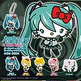 初音ミク×Hello Kitty ボーカロイド×ハローキティ ボールチェーンマスコット シークレット入り 全6種セット
