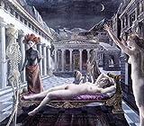 デルヴォー・「眠れるヴィーナス」 プリキャンバス複製画・ 【ポスター仕上げ】(8号相当サイズ)