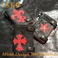JAKO レザー ダーツケース JK-DC21RB ゴシック DARTS CASE (ジャコ 革小物) (トリプルスター(RB))