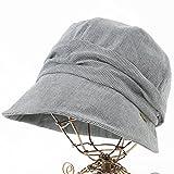 クイーンヘッド UVカット 帽子 ミラクルキャスダウンハット 小顔 ハット レディース 大きいサイズ つば広 紫外線カット 女優帽 (BIGサイズ 63cm 千鳥グレー)