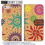 301-sanmaruichi- iPhone6s ケース iPhone6 ケース 手帳型 おしゃれ ヴィンテージ エスニック柄 太陽 パターン tacky タッキー A 手帳ケース