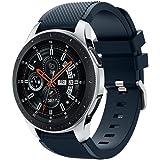 Samsung Galaxy Watch 46mmバンド Comtax 22mm シリコン製 交換用バンド Samsung Galaxy Watch 46mm バンド (ダックブルー)