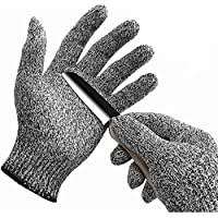WISLIFE Cut Resistant Gloves - Food Grade Safety Glove, Work Gloves for Hand Protection, Large