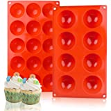 Silicone Baking Molds,Bakeware Set,2 Pack Muffin Cupcake Baking Pan for Cake Jelly Pudding Chocolate Making Desserts Servings