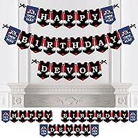 Bigドットの幸せのPersonalized Own The Mat – Wrestling – カスタム誕生日パーティーホオジロバナー&デコレーションカスタム名 – Happy誕生日バナー