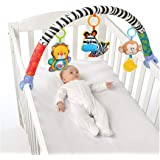 VX-star Baby Travel Play Arch Stroller/Crib Accessory,Cloth Animmal Toy and Pram Activity Bar with Rattle/Squeak/Teethers(Str