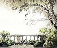 10x 8ft風景写真の背景幕ウェディング背景Photo Studio Romantic Spring Floralツリー花木製床ブース撮影小道具