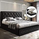 Artiss Tiyo Gas Lift Bed Frame - Queen