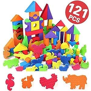 Kingstar 積み木 EVA素材 ブロック かるくてふんわり 知育玩具 おもちゃ  男の子 女の子 柔らかい つみき