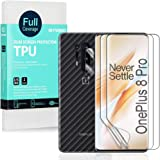 Ibywind Clear TPU Film Screen Protector for OnePlus 8 Pro,[Pack of 2],[Camera Lens Protector][Back Carbon Fiber Film Protecto