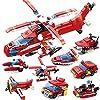 シティ消防隊 消防車8台セット合体消防ヘリコプター レゴ (LEGO) 対応 互換