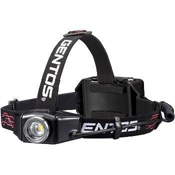 GENTOS(ジェントス) LED ヘッドライト 充電式 【明るさ500ルーメン/実用点灯12時間/耐塵/耐水】 GH-003RG ANSI規格準拠