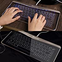 [Bastron] [The Gadget Share]タッチガラスキーボード Ultra Slim Touch Keyboard Windows/Android/iOS対応 ELE001