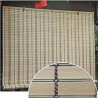 すだれ べと病ブラインドのようなPVCスラットロールアップブラインド、屋内裏庭バルコニープライバシーウィンドウブラインド、サイズカスタマイズ可能 (Size : W/35''×H/60''(89×152cm))