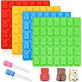 Gummy Bear Molds Candy Molds - Large Gummy Molds 1 Inch Bear Chocolate Molds Silicone 4 Pack LFGB Pinch Test Approved Best Fo