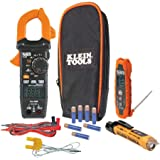 Klein Tools CL320KIT HVAC Kit for HVAC Testing; Digital Clamp Meter, Non-Contact Voltage Tester, and Infrared/Probe Thermomet