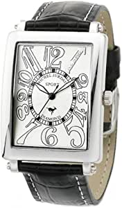 [ミッシェルジョルダン]michel Jurdain 腕時計 スポーツ ダイヤモンド レザー ホワイトxブラック メンズ SG3000-3 メンズ