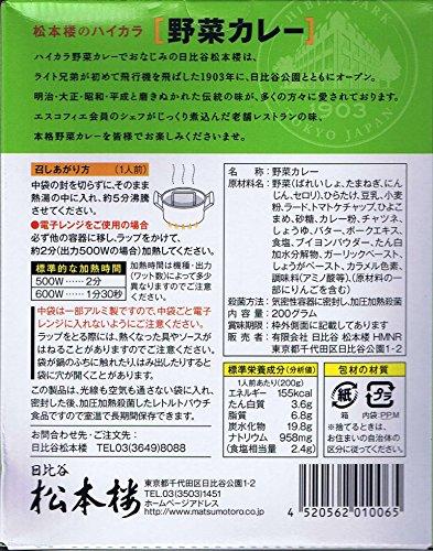 日比谷松本楼 ハイカラ野菜カレー 東京ご当地カレー 30個セット