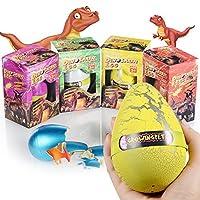 Xosoy 4.72''3.15'' Super Huge Lifelike Dinosaur Egg Novelty Magic Hatching Growing Dinosaur Toys | Dinosaur Eggs With Big Dinosaur Toy Figures Inside Hatching Toy For Kid | Funny Kids Toys [並行輸入品]