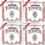 バイオリン弦 PIRASTRO TONICA トニカ 4/4サイズ 4弦セット(E線: ボール#3127シルバリー)