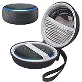 Esimen Hard Case for All-New Echo Dot (3rd Gen) Smart Speaker with Alexa Protective Carrying Cover Bag (Black)