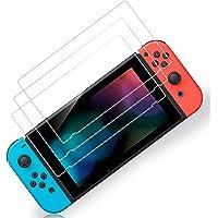 3枚入り Switch 用 保護 ガラスフィルム スイッチ ブルーライトカット 日本硝子素材 強靭9H 3Dラウンドエッ…